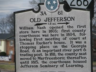 Old Jefferson Marker Photo, Click for full size