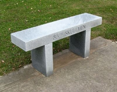 79th Fighter Group Memorial Skullmen Bench image. Click for full size.
