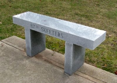 79th Fighter Group Memorial Skeeters Bench image. Click for full size.