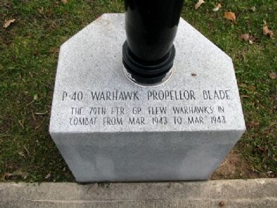 79th Fighter Group Memorial P-40 Propeller Marker image. Click for full size.