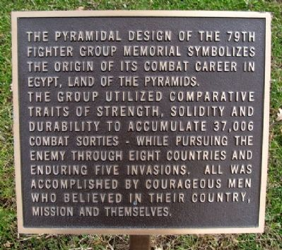 79th Fighter Group Memorial Marker image. Click for full size.
