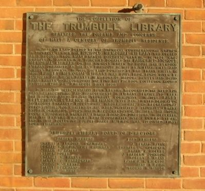 The Trumbull Library Marker image. Click for full size.