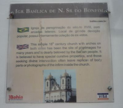 Igr. Basílica de N. Sr. do Bonfim Marker image. Click for full size.