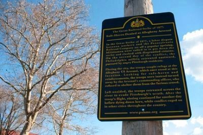 Safe Haven Denied at Allegheny Arsenal Marker image. Click for full size.
