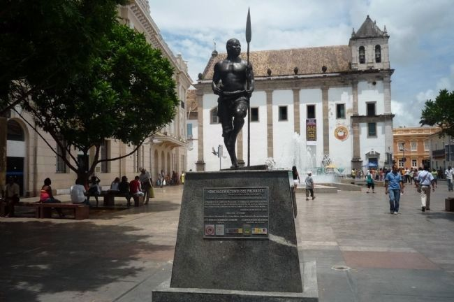 Zumbi Dos Palmares Monument - Pelourinho, Salvador, Bahia, Brazil Photo, Click for full size