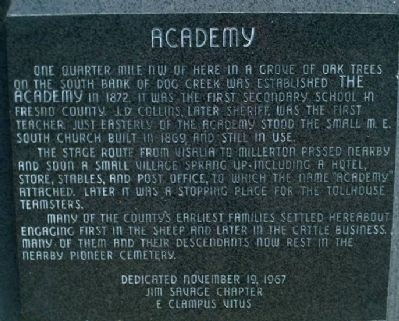 Academy Marker image. Click for full size.