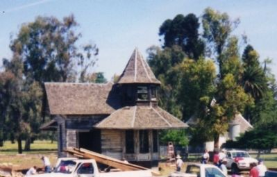 Tarpey Depot before it was moved back to Clovis Photo, Click for full size
