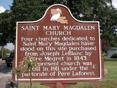 Saint Mary Magdalen Church Marker image. Click for full size.