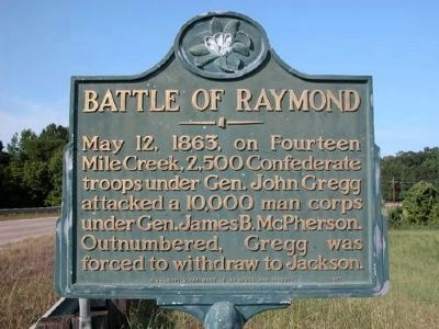 Battle of Raymond Marker Photo, Click for full size