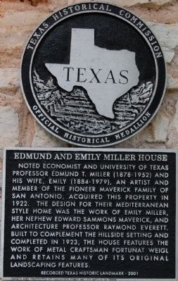 Edmund and Emily Miller House Marker image. Click for full size.