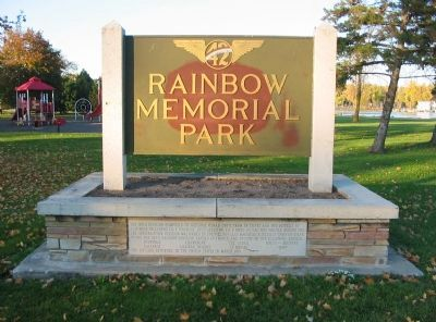 Rainbow Memorial Park Marker image. Click for full size.