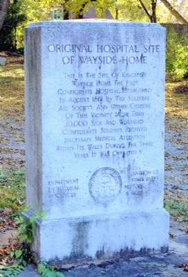 Original Hospital Site of Wayside Home Marker image. Click for full size.