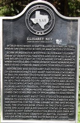Elisabet Ney Marker Photo, Click for full size