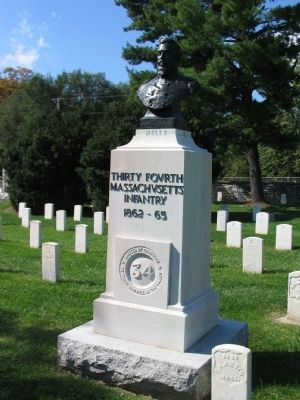 Thirty-Fourth Massachusetts Infantry Memorial image. Click for full size.