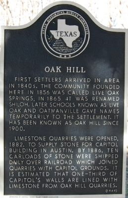Oak Hill Marker image. Click for full size.