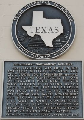 Openheimer-Montgomery Building Marker image. Click for full size.