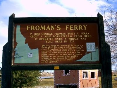 Froman's Ferry Marker Photo, Click for full size