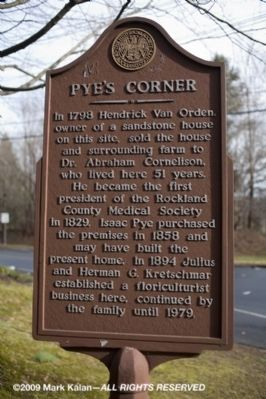 Pye's Corner Marker Photo, Click for full size