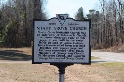 Shady Grove Church Marker, as seen along Cameron Road (State Road 33) image. Click for full size.
