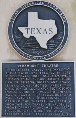 Paramount Theater Marker image. Click for full size.