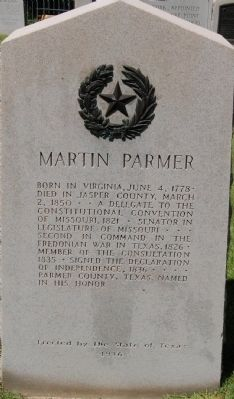 Martin Parmer Marker image. Click for full size.