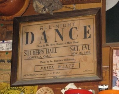 Notice for 11/20/26 All-Night Dance At Studer's Hall Photo, Click for full size