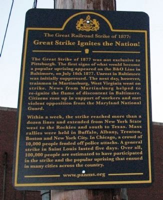 Great Strike Ignites the Nation! Marker image. Click for full size.
