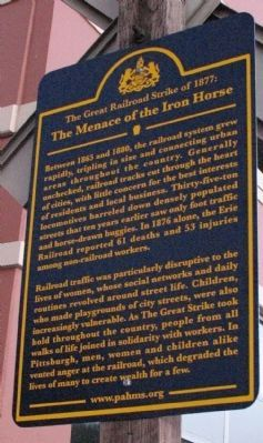 The Menace of the Iron Horse Marker image. Click for full size.