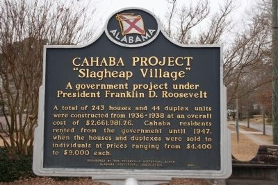Cahaba Project Marker image. Click for full size.