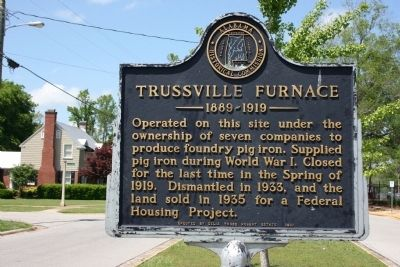 Trussville Furnace Marker image. Click for full size.
