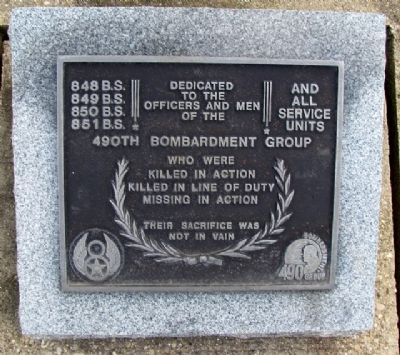 490th Bombardment Group Marker image. Click for full size.