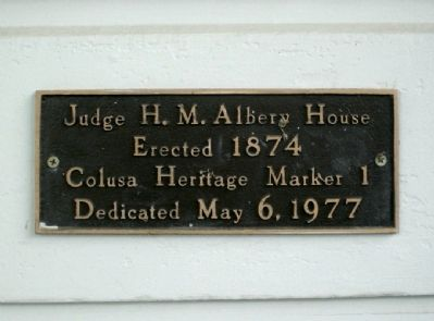 Judge H. M. Albery House Marker image. Click for full size.