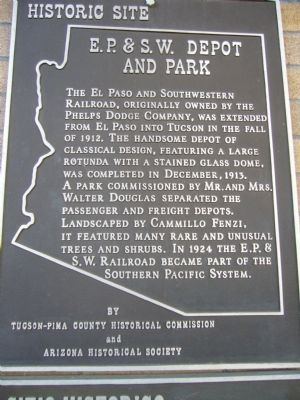 E.P.&S.W. Depot and Park Marker image. Click for full size.