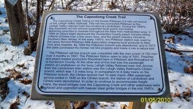 The Capoolong Creek Trail Marker image. Click for full size.