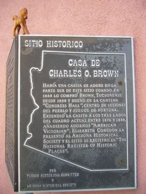 Charles O. Brown House Marker image. Click for full size.