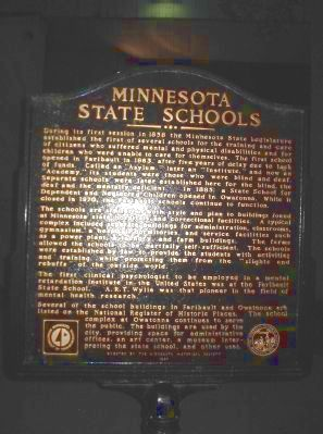 Minnesota State Schools Marker image. Click for full size.
