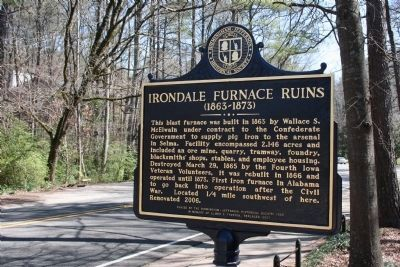 Irondale Furnace Ruins Marker image. Click for full size.