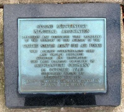 Second Schweinfurt Memorial Marker image. Click for full size.