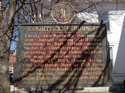 Courthouse Burned Marker Photo, Click for full size