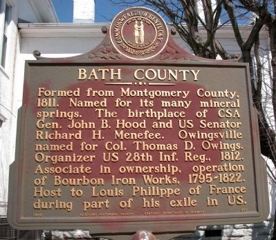 Bath County Marker Photo, Click for full size