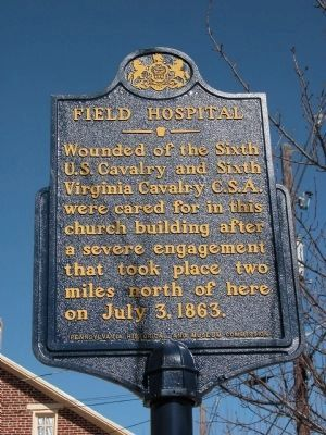 Field Hospital Marker Photo, Click for full size