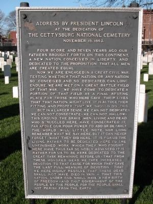 The Gettysburg Address Bronze Plaque image. Click for full size.