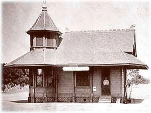 Tarpey Train Depot as it looked around 1905 Photo, Click for full size