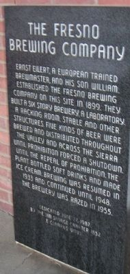 The Fresno Brewing Company Marker image. Click for full size.