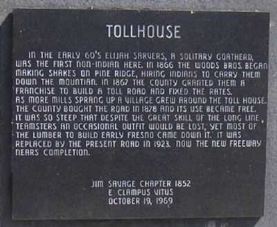 Tollhouse Marker image. Click for full size.