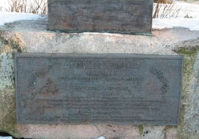 Jonathan Trumbull Marker Photo, Click for full size