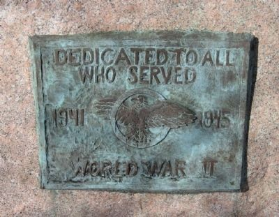 Milford World War II Memorial Marker Photo, Click for full size