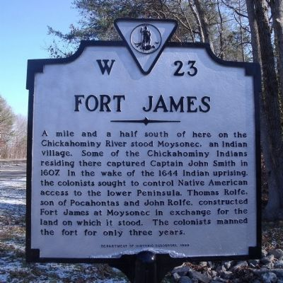 Fort James Marker image. Click for full size.