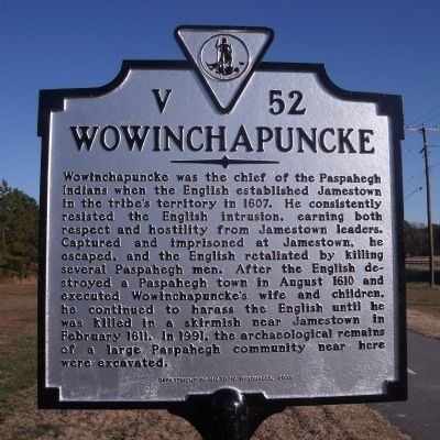 Wowinchapuncke Marker image. Click for full size.