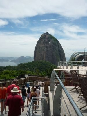 View from Urca Mountain toward <i>Pão de Açúcar</i> (Sugar Loaf Mountain). image. Click for full size.